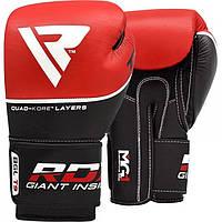 Кожаные боксерские перчатки RDX Quad Kore Red 10 oz Красные