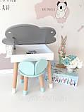 Детский стол  полуоблако с пеналом и 2 стула (зайка и мишка), фото 4