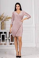 Женское стильное бархатное платье на запах, фото 1