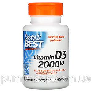 Вітамін Д-3 Doctor's s Best Vitamin D-3 2000 IU 180 капс.