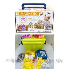 Магнитный конструктор в боксе Magnetic world 168 деталей, фото 3
