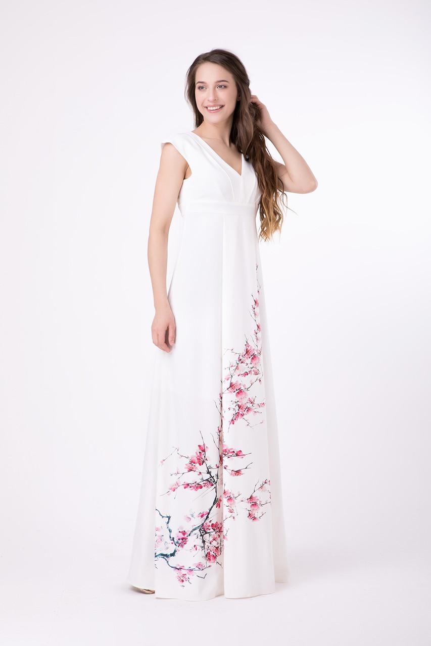 Жіноче плаття довге літнє молочне Rica Mare MKRM1802-18DD