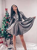 Женское стильное приталенное женское платье с длинным рукавом, фото 1