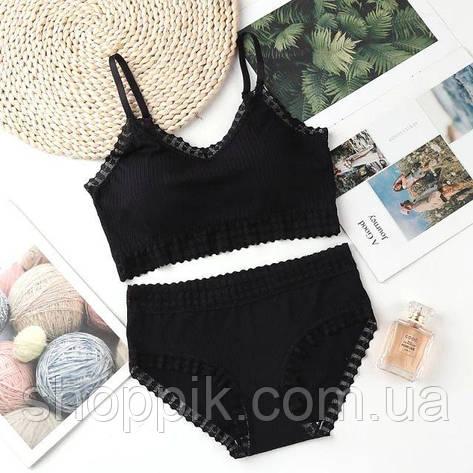 Комплект жіночої білизни Beisdanna чорний, фото 2