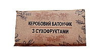 Батончик кэробовый с сухофруктами. RAW,  (50 г)