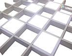 """Система світильників для стелі Грільято (6шт) """"Доміно"""" СГД 36Вт 100х100 мм, фото 6"""