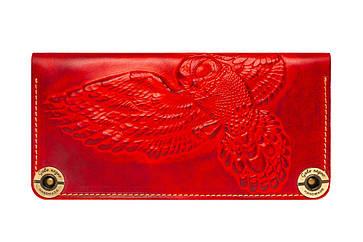 Шкіряний жіночий гаманець Owl