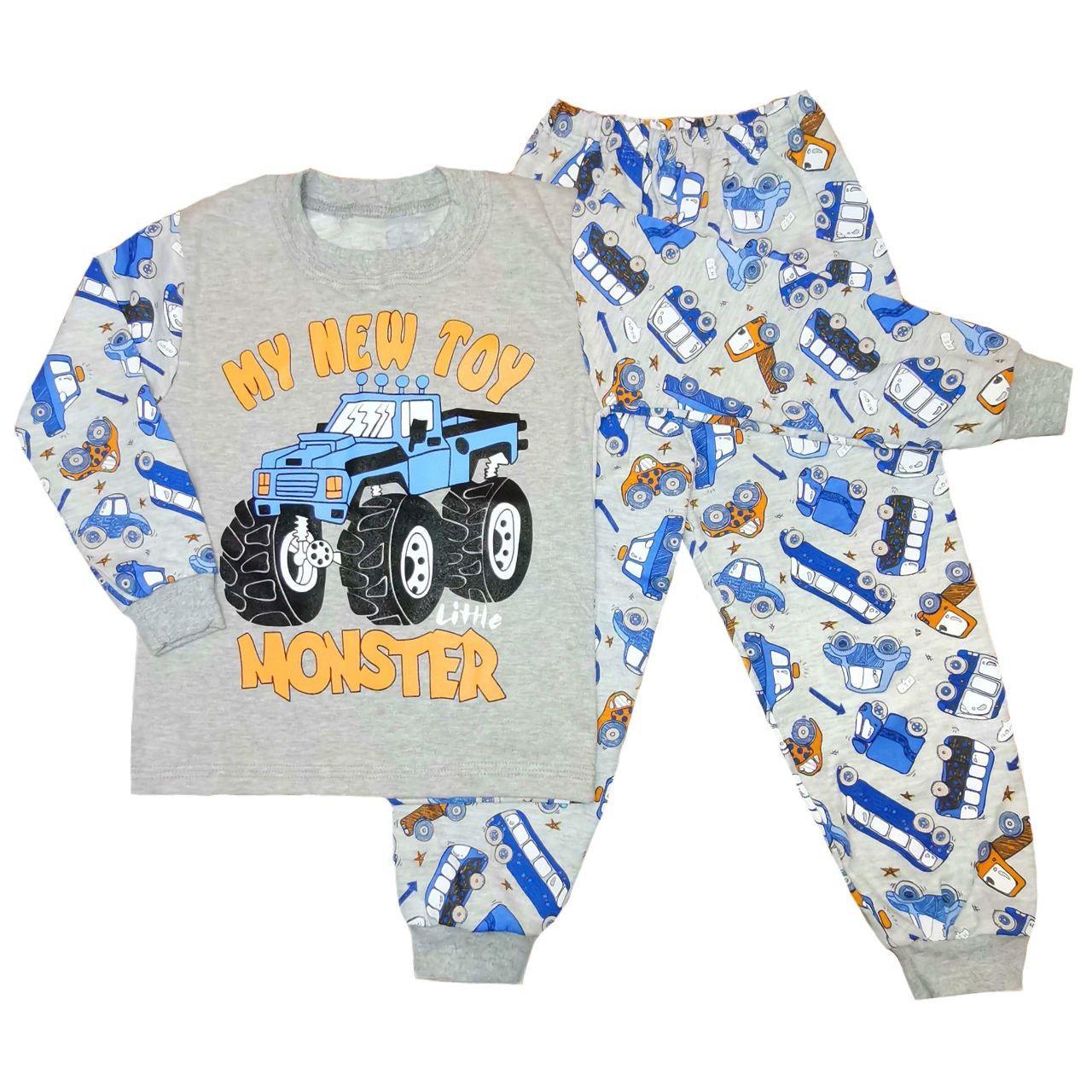Дитяча піжама для хлопчика з принтом Monster інтерлок-піньє