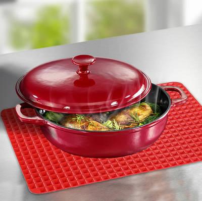 Силиконовый коврик для выпечки Pyramid Pan 40х29 см коврик-противень для запекания Красный