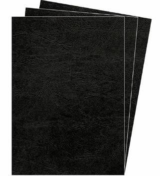 """Обкладинки для брошурування """"Fellowes"""" №53744 А3 картонні Delta під шкіру,чорна(100)"""