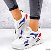 Кросівки жіночі James білий + червоний +синій + чорний 3492, фото 3