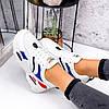 Кросівки жіночі James білий + червоний +синій + чорний 3492, фото 5