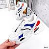 Кросівки жіночі James білий + червоний +синій + чорний 3492, фото 7