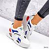 Кросівки жіночі James білий + червоний +синій + чорний 3492, фото 8