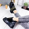 Кроссовки женские с стиле Gucci черный 9315, фото 2