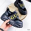 Кроссовки женские с стиле Gucci черный 9315, фото 3