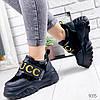 Кроссовки женские с стиле Gucci черный 9315, фото 4