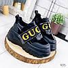 Кроссовки женские с стиле Gucci черный 9315, фото 5