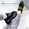 Кроссовки женские с стиле Gucci черный 9315, фото 10
