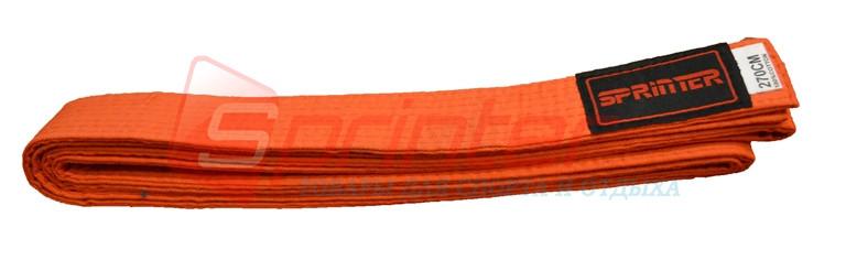 Пояс карате 270 см. Цвет: оранжевый