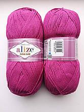 Пряжа для вязания Alize Cotton Gold Ализе Коттон Голд  цвет 649 фуксия