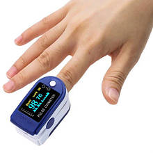 Електронний пульсометр оксиметр пристрій для вимірювання пульсу Pulse Oximeter, ТІЛЬКИ ОПТ 100 ШТ