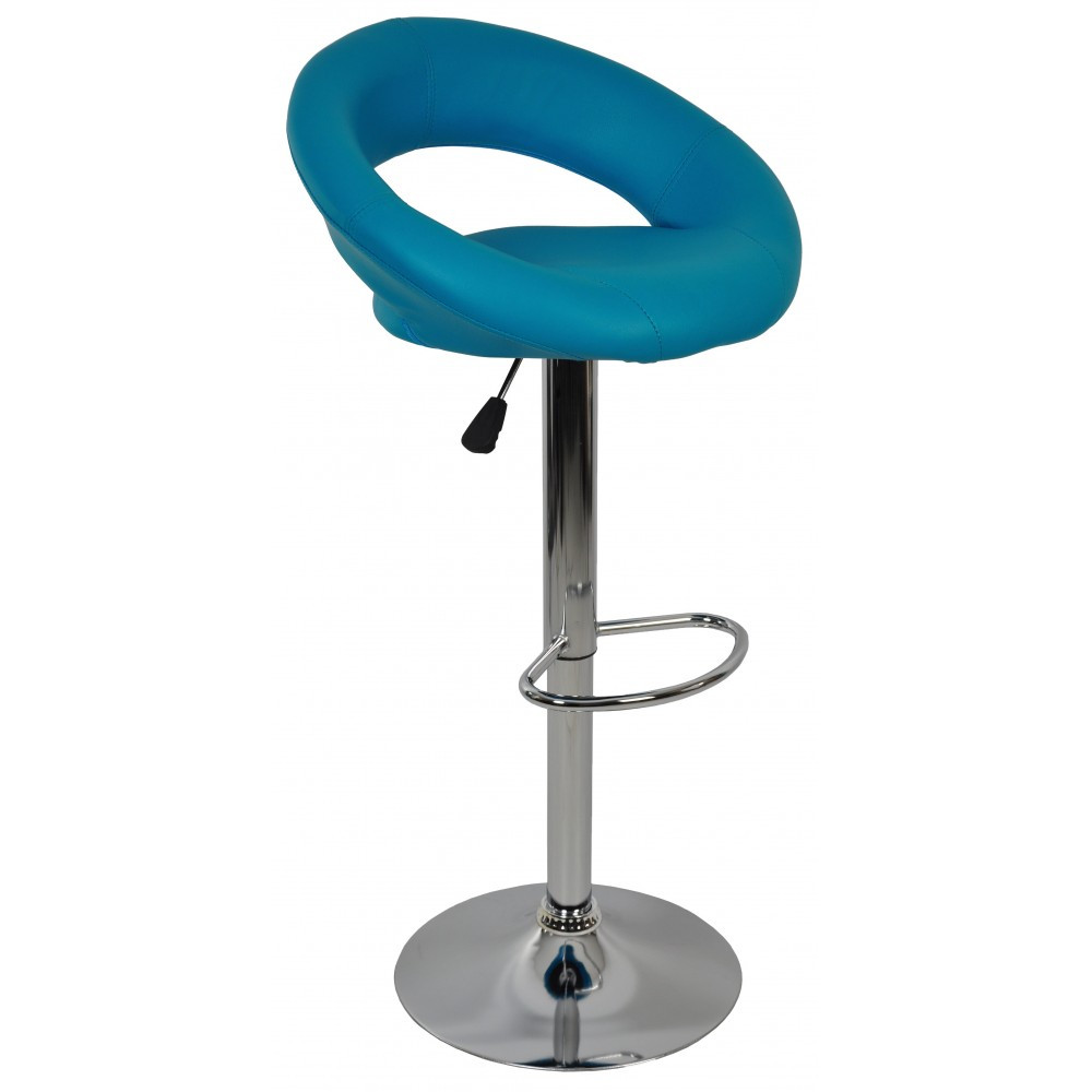 Барный стул со спинкой Bonro B-650 аква-синий