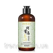 Увлажняющий и восстанавливающий шампунь с корнем женьшеня для блеска волос Images, 300 мл