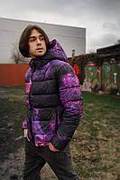 Демисезонная принтованная мужская куртка с капюшоном, молодежная куртка весна/осень Cosmo