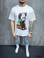 Чоловіча футболка оверсайз 2Y Premium TS-6058 white