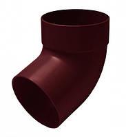 Отвод трубы одномуфтный 67° 100мм RAINWAY красный