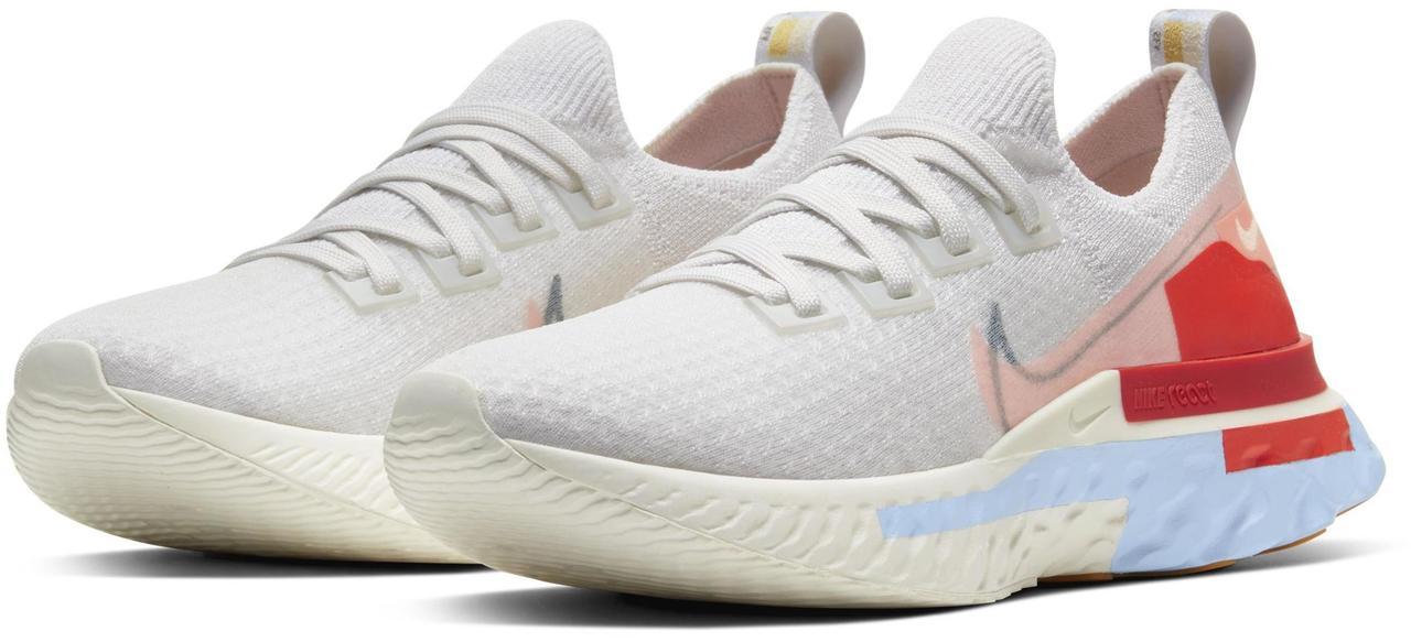 Женские кроссовки Nike React Infinity Run Flyknit Premium текстильные кроссовки Найк Реакт (Топ реплика ААА+)