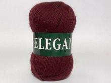 Пряжа полушерстяная Vita Elegant, Color No.2075 бордо