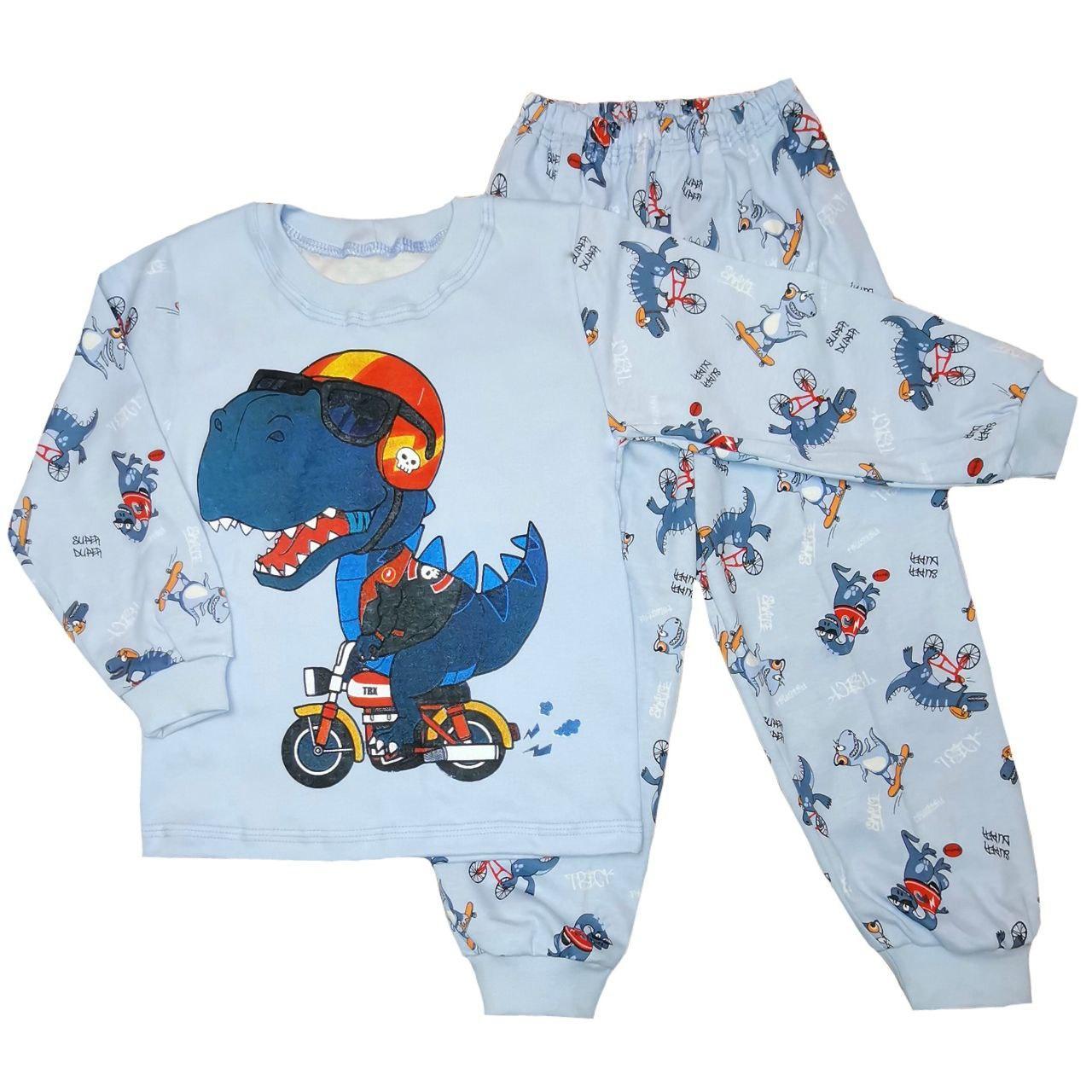 Дитяча піжама для хлопчика з принтом Dino інтерлок-піньє