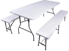 Садовый стол и две скамейки 180 см Польша
