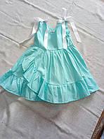 Сарафан дитячий розкльошений з рюшем для дівчинки розмір 3-6 років, колір уточнюйте при замовленні, фото 1