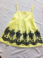 Сарафан дитячий розкльошений з вишивкою для дівчинки розмір 3-6 років, колір уточнюйте при замовленні, фото 1