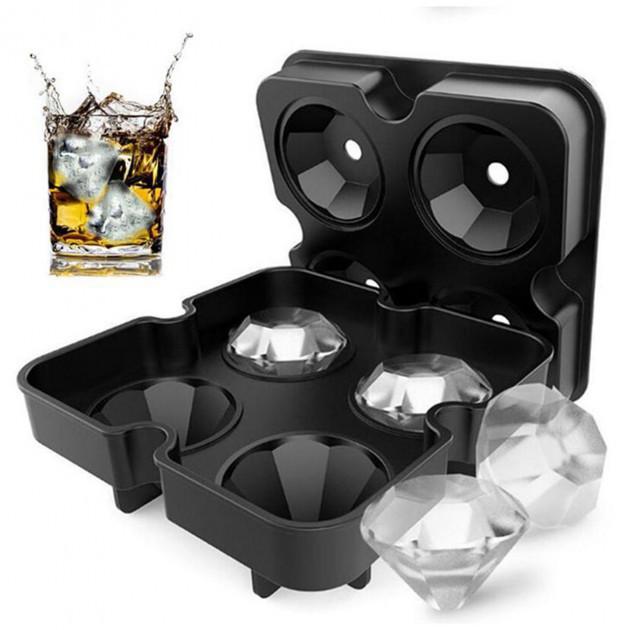 Силіконова форма для льоду Діамант Black. Форма для льоду діамант.