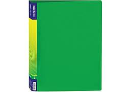 Папка пластиковая А4 EconoMix на 4 кольца мм 3 см зеленый Е30702-04