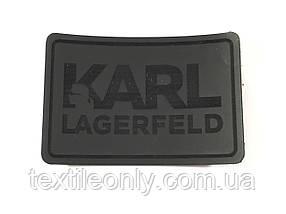 Нашивка Карл Лагерфельд / Karl Lagerfeld 60х40 мм сірий