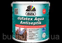 Декоративная пропитка-антисептик для дерева Dufatex белый 0,75 л