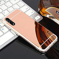 Чехол Fiji Mirror для Xiaomi Mi A3 (Mi CC9e) силикон зеркальный бампер розовое золото