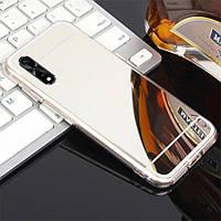Чехол Fiji Mirror для Xiaomi Mi A3 (Mi CC9e) силикон зеркальный бампер металлик