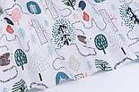 """Лоскут тканини бязь """"Стежинки їжачків"""" на білому тлі, размер 33*80 см, фото 6"""