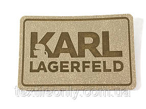 Нашивка Карл Лагерфельд / Karl Lagerfeld 60х40 мм золотий
