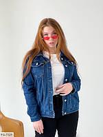 Джинсовая женская куртка пиджак из джинс коттона р-ры 44-46 арт. 401