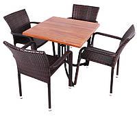Набор для   кафе Fabio +стол MODENA  80х80 см teak