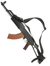 Збройовий триточковий ремінь №2 чорний
