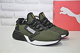 Лёгкие мужские кроссовки сетка в стиле Puma хаки, фото 7