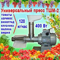 Шнековий соковитискач ТШМ-2 для томатів (120 кг/год), винограду, ягід, не вимагає періодичної очистки